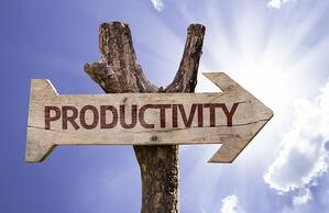 Productivity sign with a beautiful day on background-1
