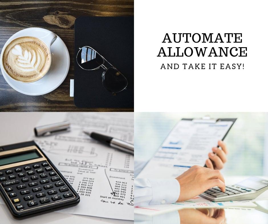 automate allowance banner